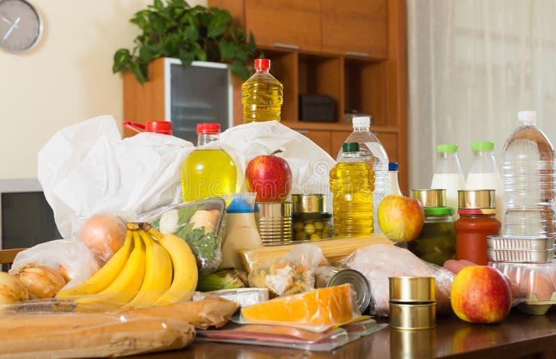 Wciąż życie z żywność supermarket obraz royalty free