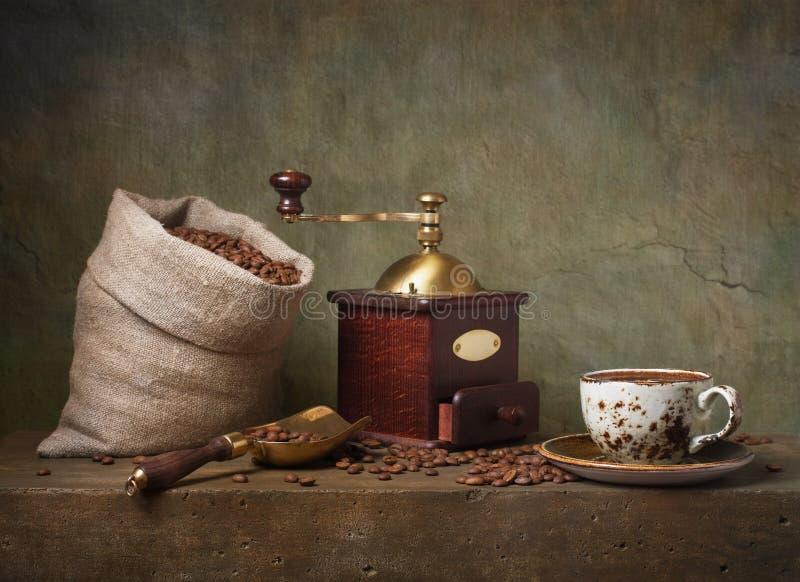 Wciąż życie z filiżanką kawy obrazy stock