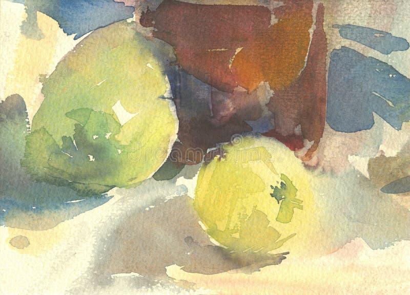 Wciąż życie z jabłkami ilustracji