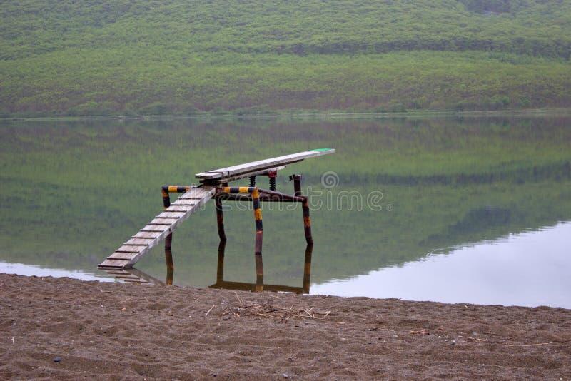 Wciąż chłód Czerwiec otwierać plażowego sezon zbyt fotografia stock