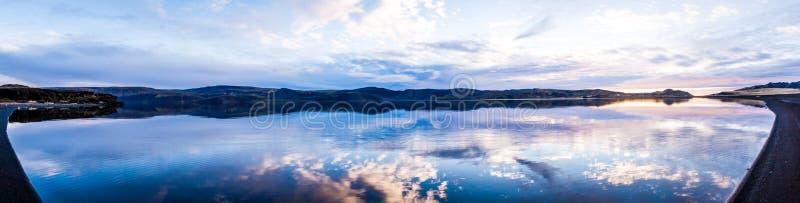 Wciąż Jeziorna panorama zdjęcia royalty free