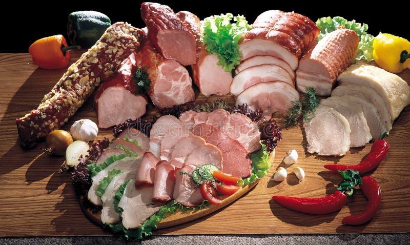 Wciąż kiełbasa i mięso zdjęcie stock