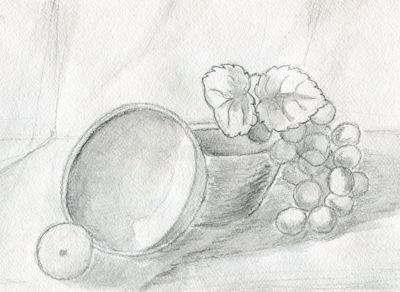 wciąż winogrona życie ilustracja wektor