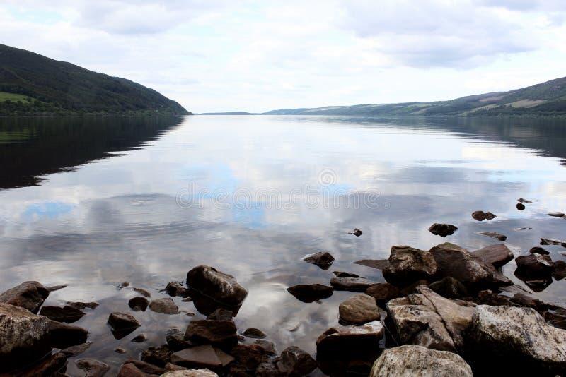 Wciąż wody na Loch Ness zdjęcia stock