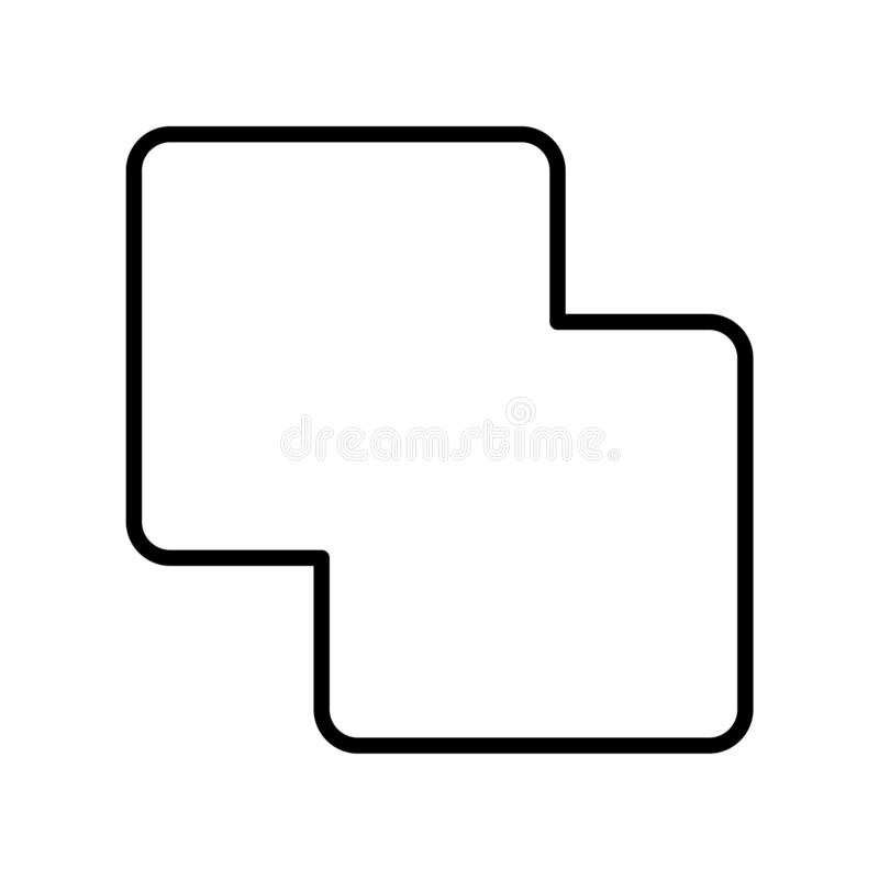 Wciela ikona wektor odizolowywającego na białym tle, łączenie znak, Lin royalty ilustracja