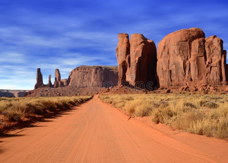 Wczesnego Poranku Arizona usa Navajo Pomnikowy Dolinny naród obraz royalty free