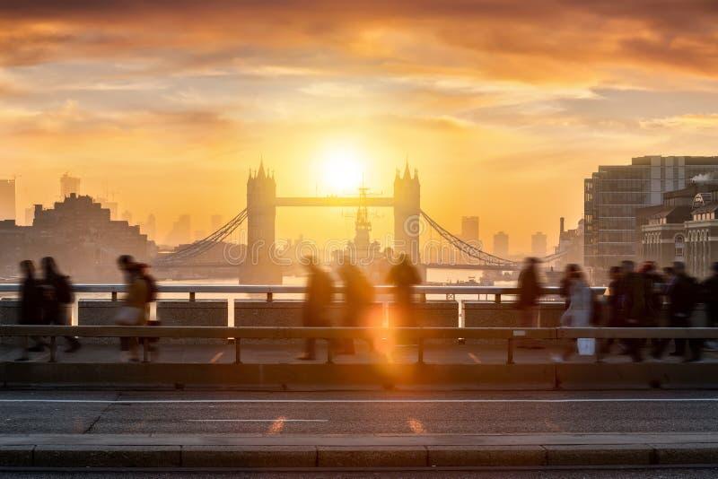 Wczesnego poranku godzina szczytu w Londyn, UK fotografia royalty free