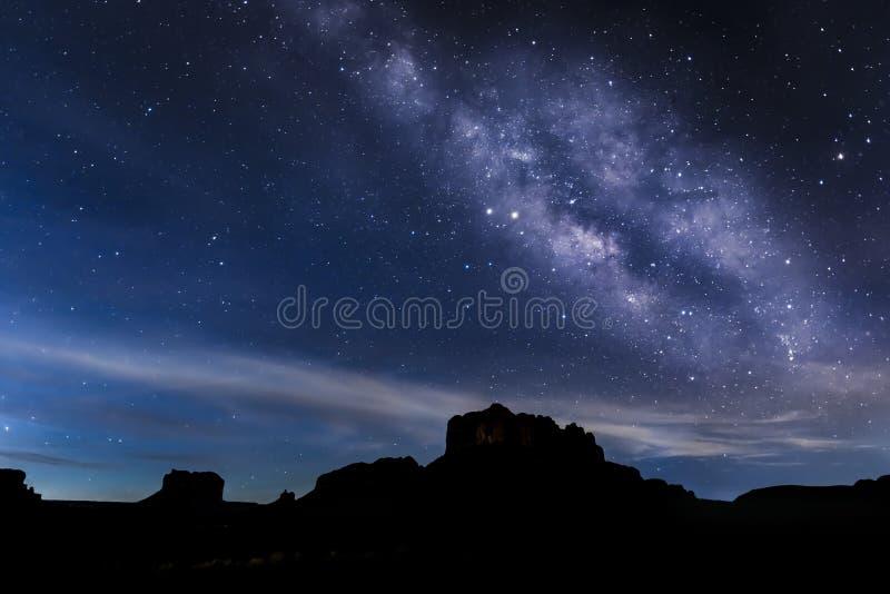 Wczesnego Poranku Milky sposób - Sedona, Arizona obraz stock
