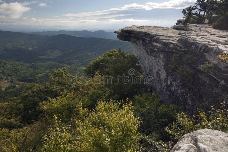 Wczesnego poranku widok od Mcafee gałeczki na Appalachian śladzie fotografia royalty free