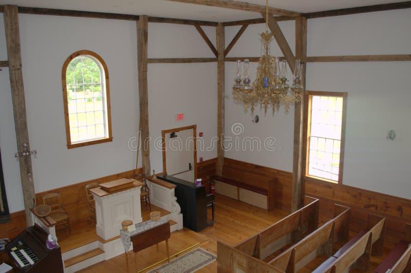 Wczesny amerykanin, Amerykańsko-indiański kościół fotografia royalty free