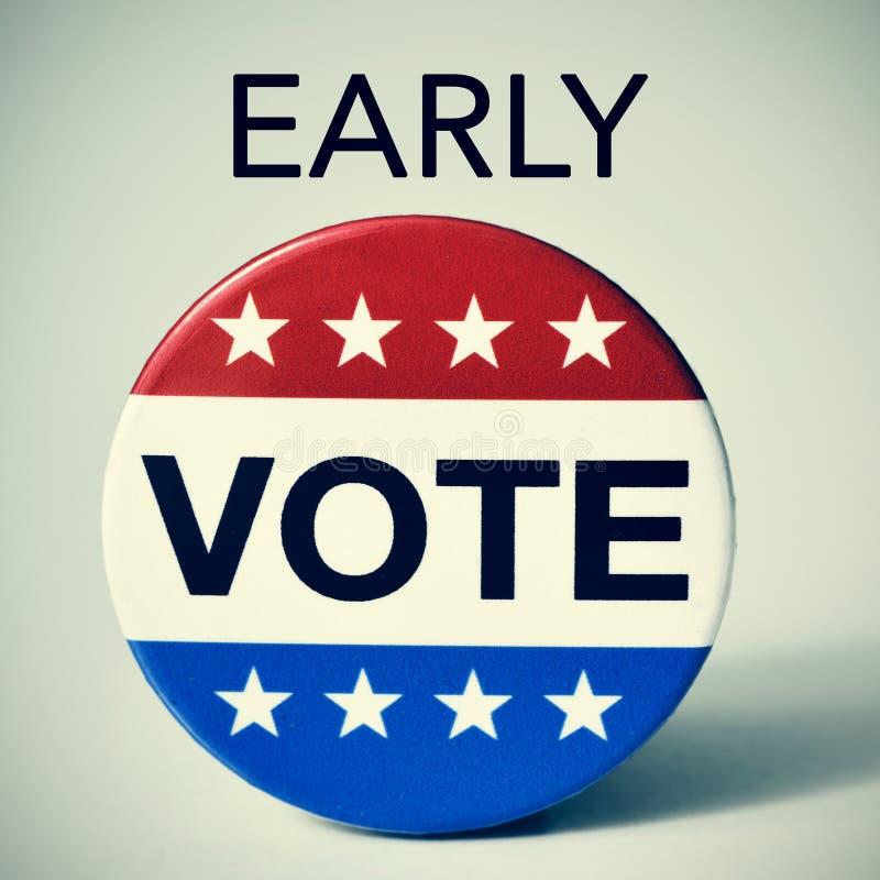 Wczesny głosowanie w Stany Zjednoczone wybory zdjęcie royalty free