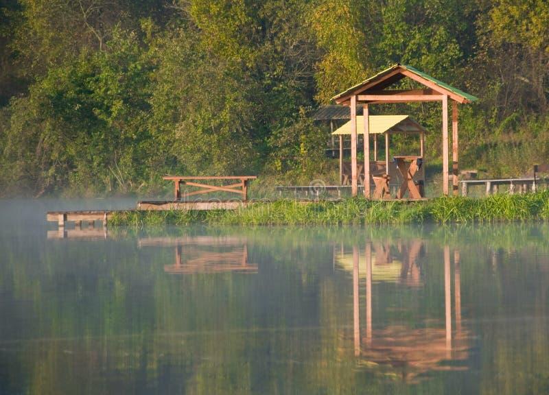 wczesny jeziorny ranek fotografia stock