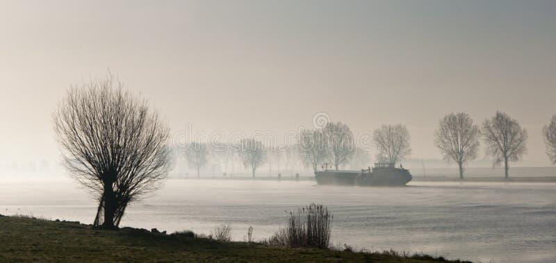wczesny poranek holenderska rzeka obrazy royalty free