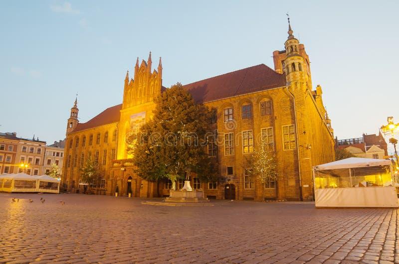 Wczesny poranek w Starym miasteczku Toruński, Polska zdjęcia royalty free