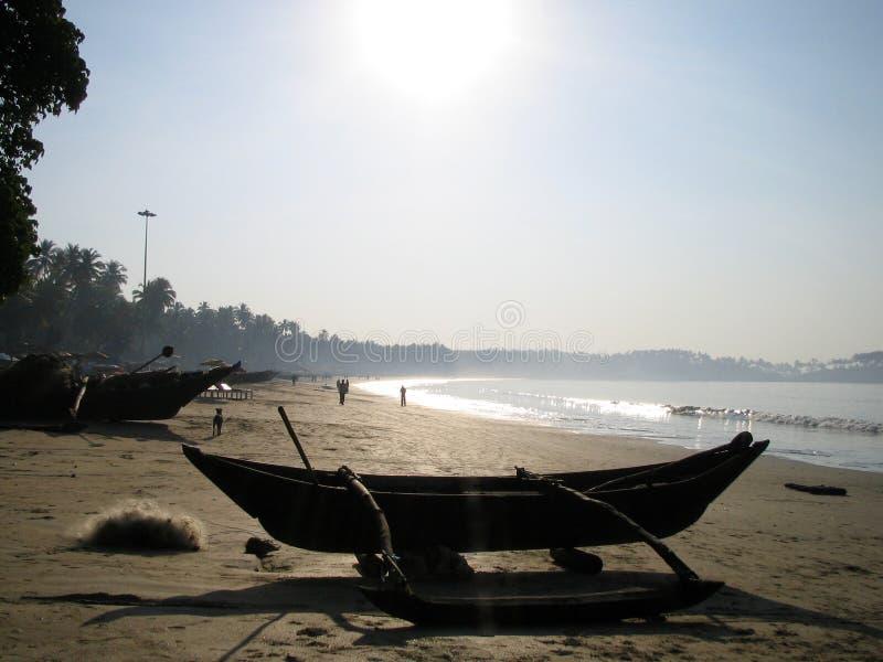wczesnym rankiem na plaży obraz stock