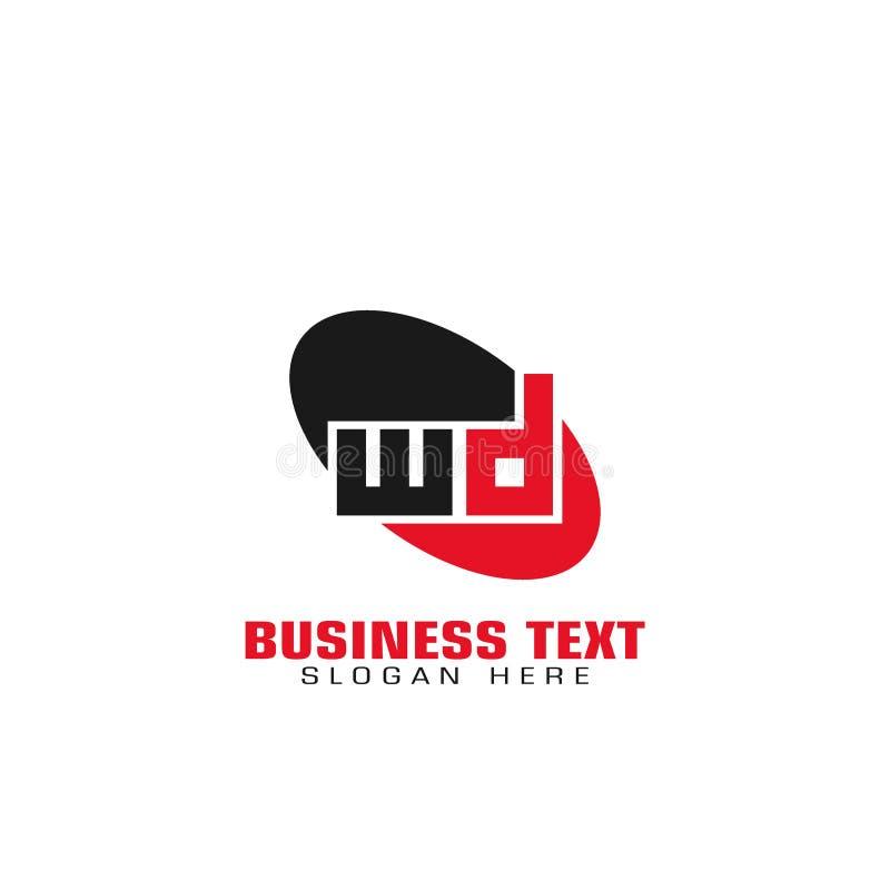 Wd信件商标 库存例证
