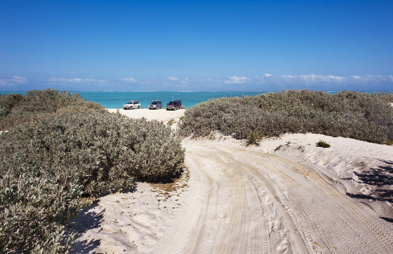 4WD Track To The Beach stock photography