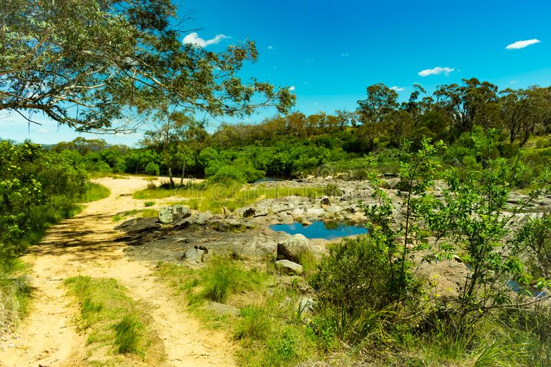 4WD track to the Shoalhaven River near Braidwood royalty free stock photo
