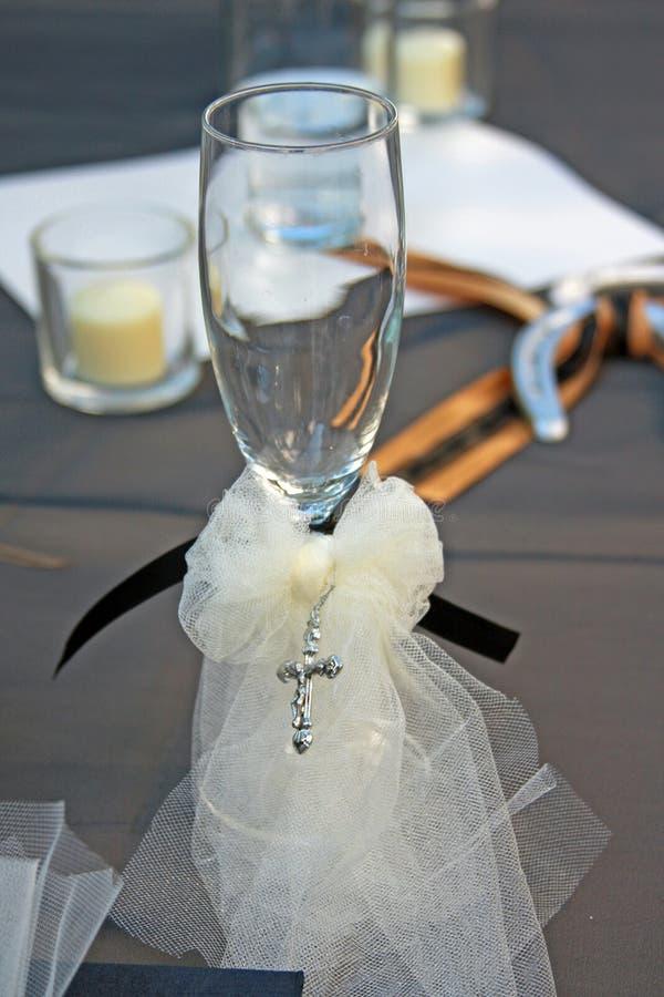 Wdding Champagne Flute fotos de stock royalty free