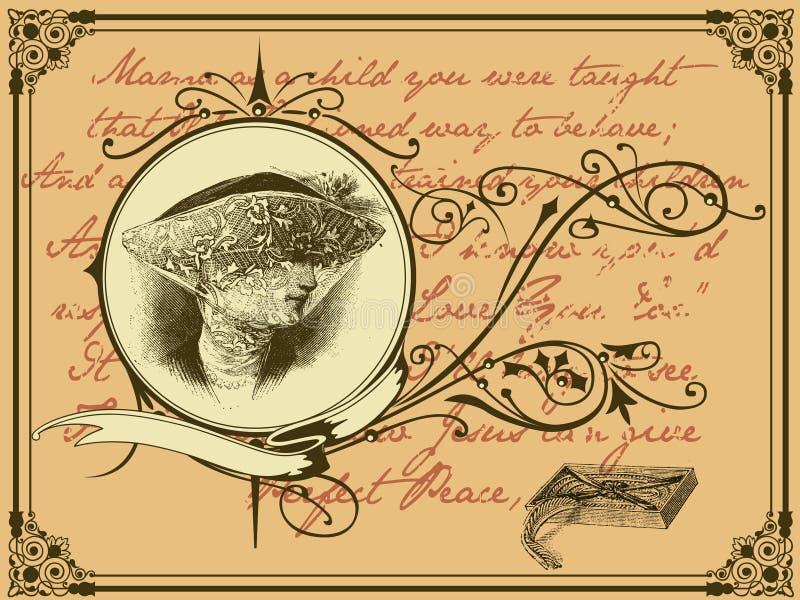 wdowa list ilustracja wektor