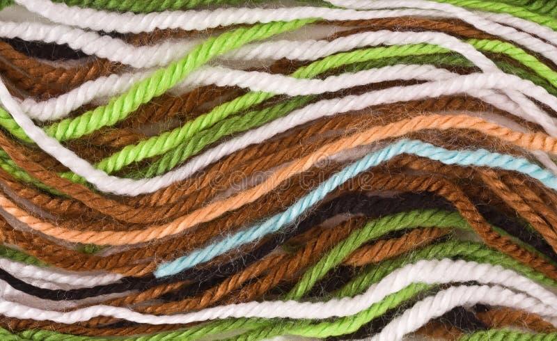 Wełien barwione nici zdjęcie royalty free