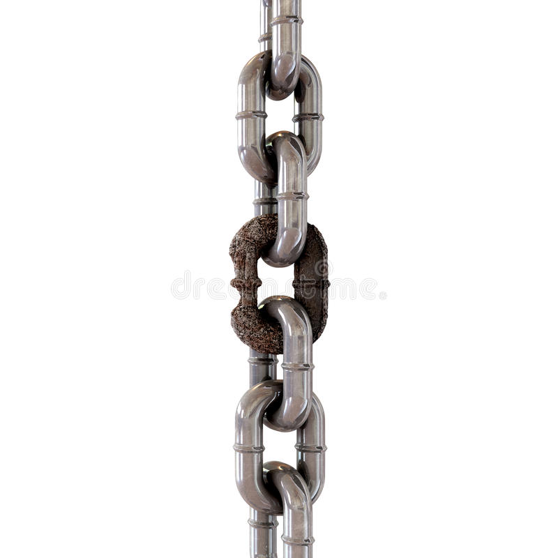 Download Weak Link stock illustration. Image of iron, dubious - 24136396