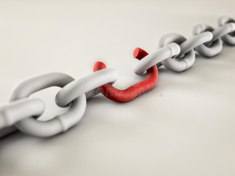 Download Weakest Link stock image. Image of chains, snap, rope - 26138171