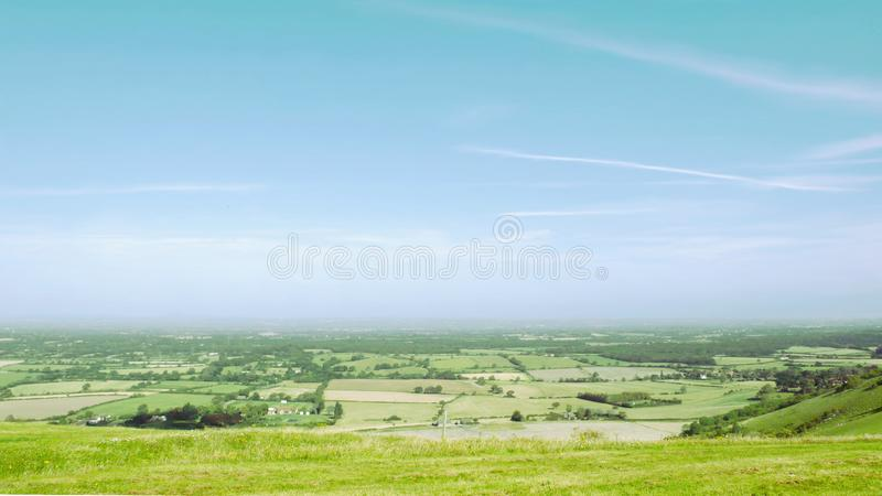 Weald ahead - it`s very flat. royalty free stock photo