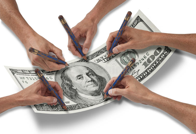 Download Money Dollar Hand Pencil stock image. Image of drawing - 23938013