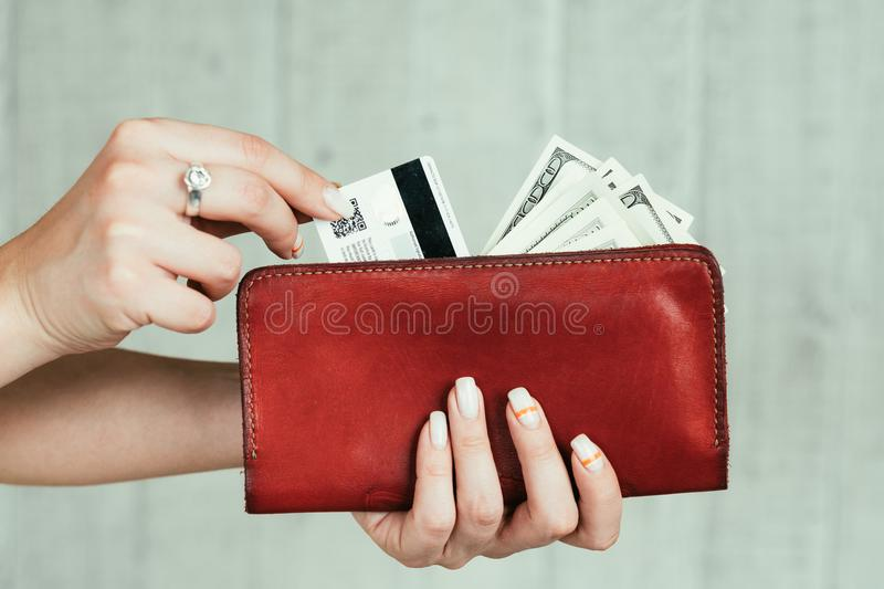 Wealth finance money cash card income wallet stock photography