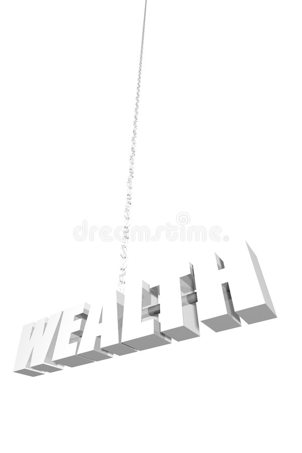 Download Wealth Hanging By A Thread Royalty Free Stock Photo - Image: 3513085