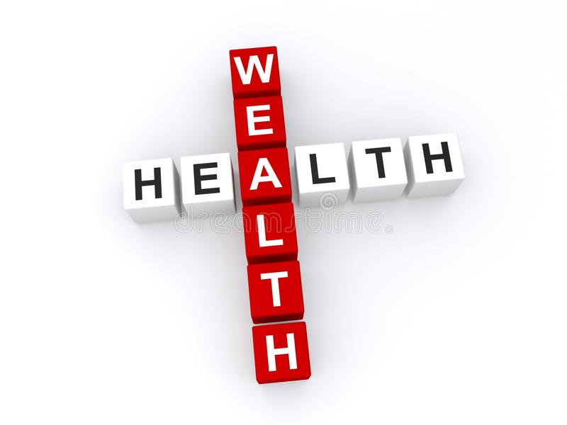 Wealth and health concept stock illustration
