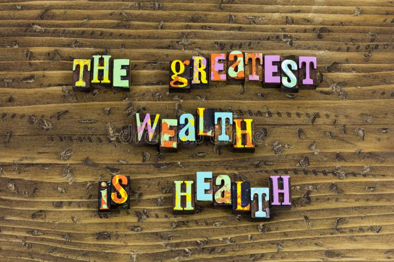 Wealth health healthcare healthy security stock photo