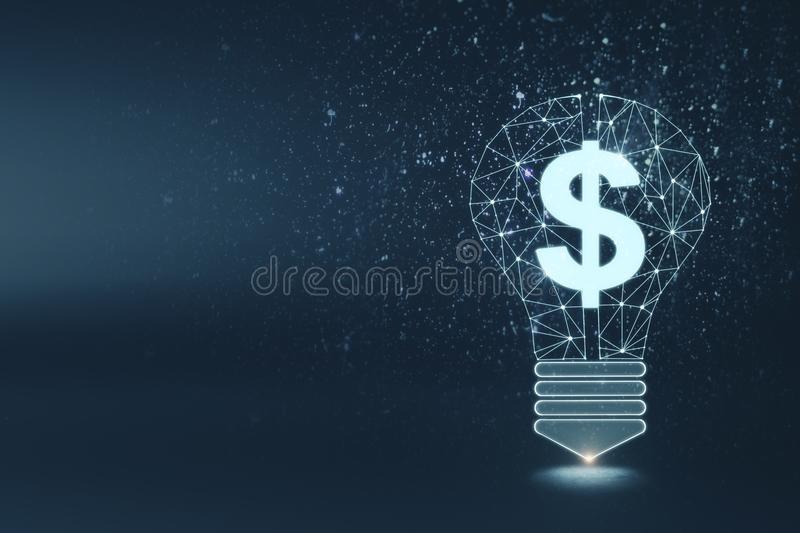Wealth, idea, money and innovation background royalty free illustration