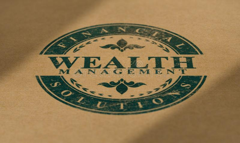 Wealth Management Advisory Service. Financial Solutions royalty free stock images