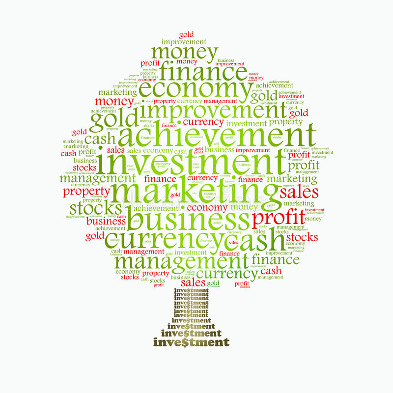 Wealth management tree vector illustration