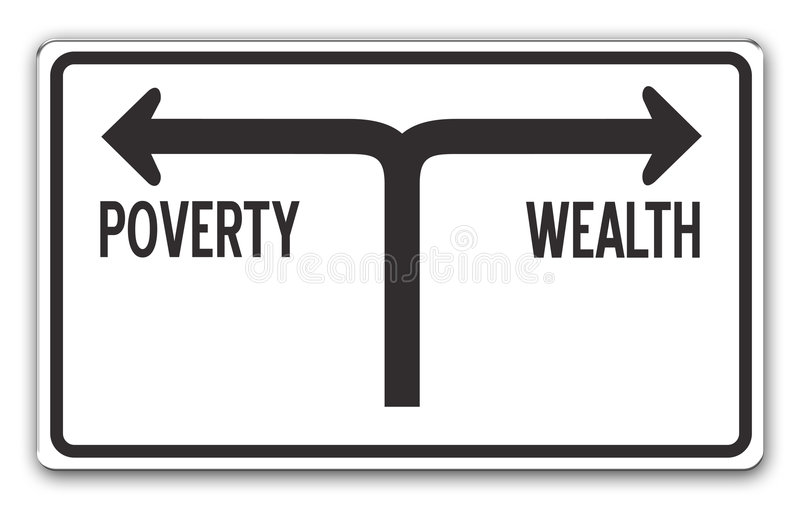 Wealth & Poverty royalty free illustration