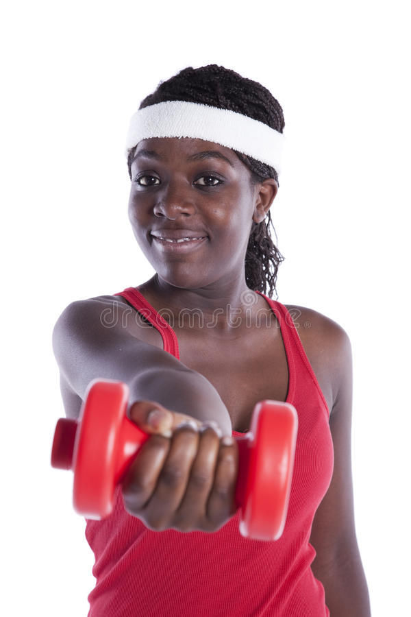 Download Wealthy African Woman Exercising Stock Photo - Image of beautiful, muscle: 16111314