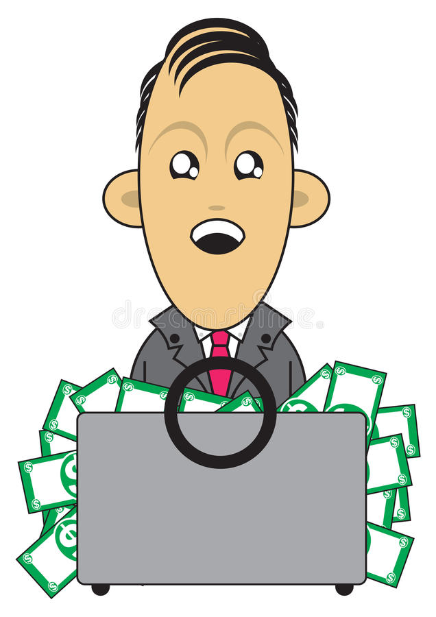 Download Wealthy Businessman Illustration Stock Illustration - Image: 16287261