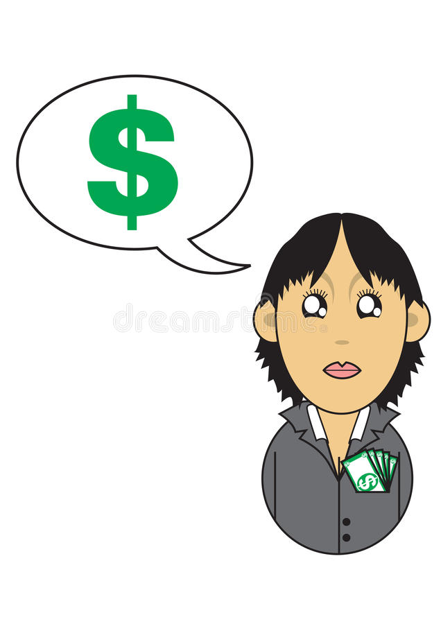 Download Wealthy Businesswoman Illustration Stock Illustration - Image: 16287876