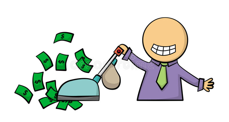 Download Wealthy cleaning stock illustration. Image of earn, financial - 25896579