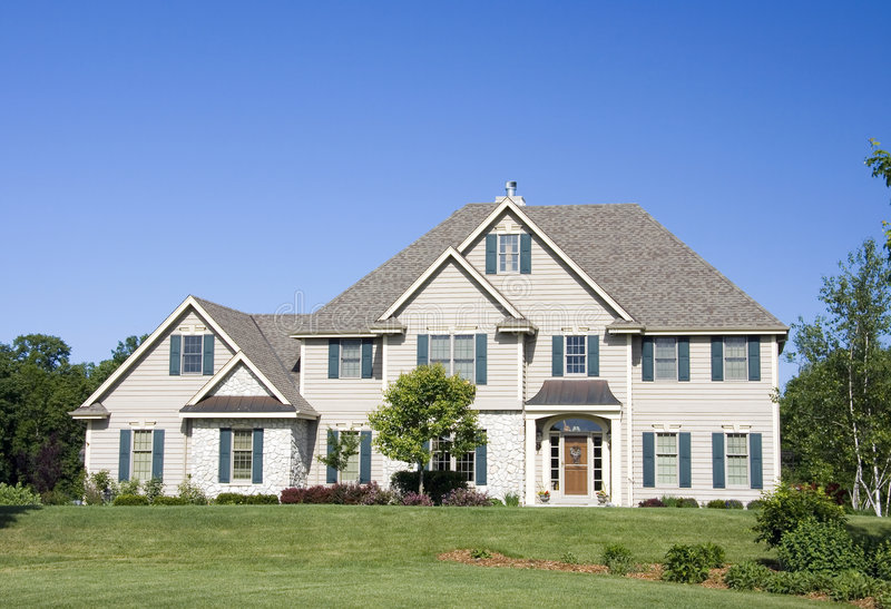 Wealthy Three Story Estate royalty free stock photo