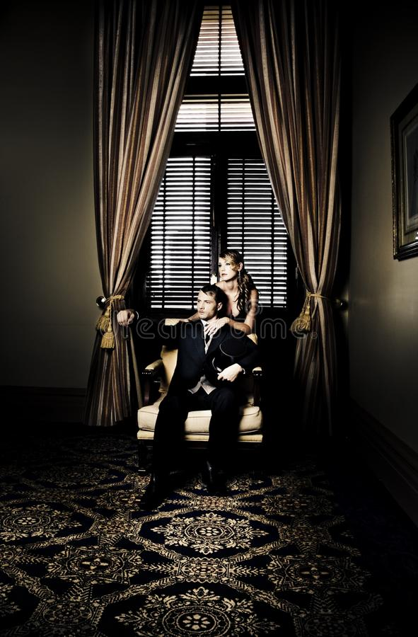 Download Wealthy Young Couple stock image. Image of male, interior - 25601243