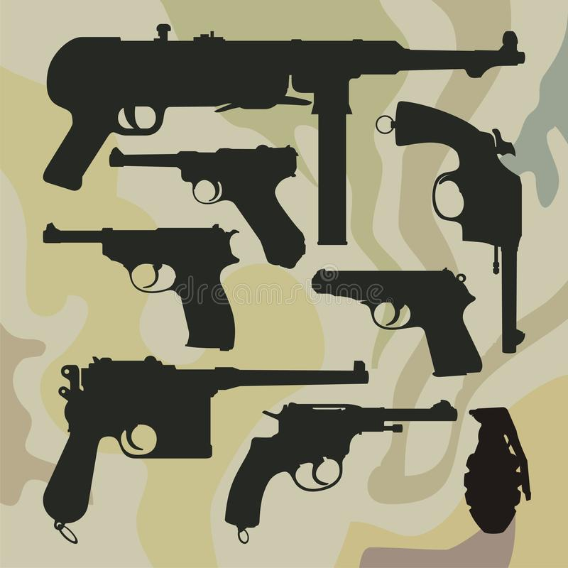 Download Weapon stock vector. Image of illustrations, decoration - 10332825