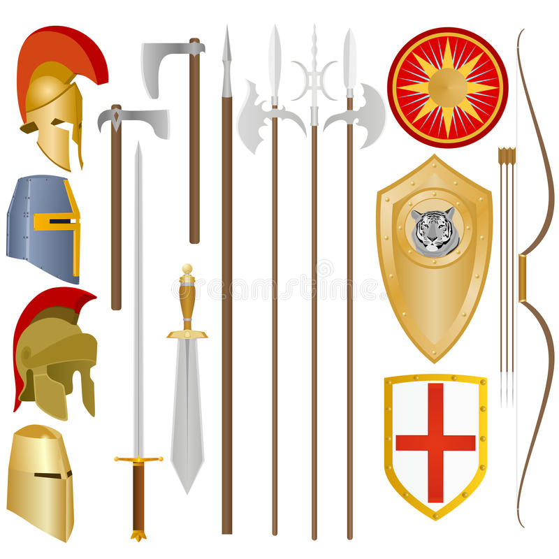 Weapon and armor of ancient soldiers