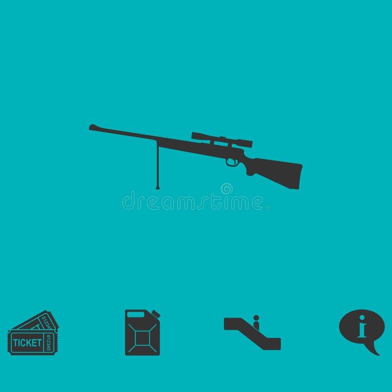 Weapon icon flat vector illustration