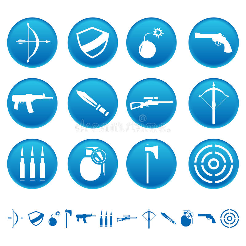 Download Weapon icons stock vector. Illustration of arrow, icon - 23700219