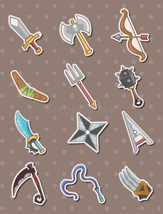 Download Weapon stickers stock vector. Illustration of large, child - 24573511