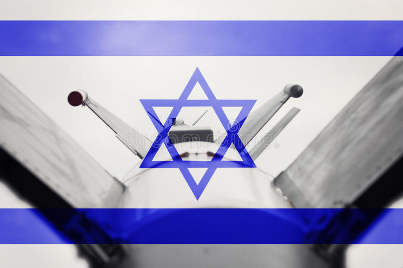 Weapons of mass destruction. Israel ICBM missile. War Background. Nuclear Missile stock photos