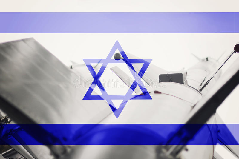 Weapons of mass destruction. Israel ICBM missile. War Background. Nuclear Missile royalty free stock image